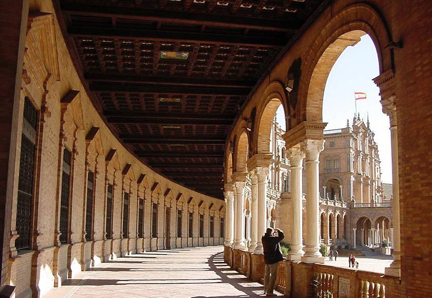 Arcos de la Plaza de España, en Sevilla