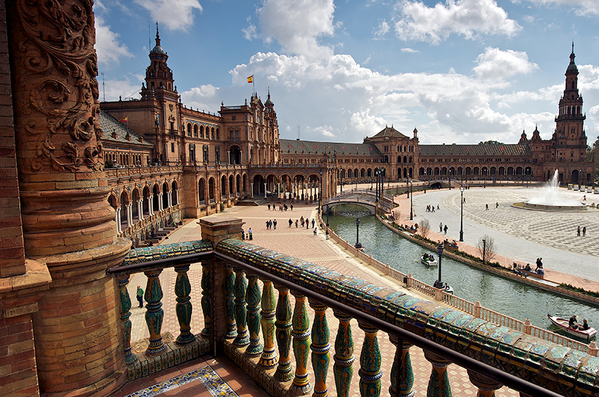 Vista de la Plaza de España desde uno de sus balcones