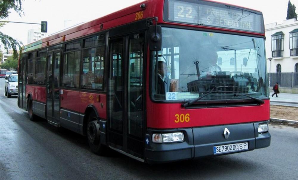 Autobuses urbanos en Sevilla